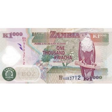Zambia 1000 Kwacha 2011 P-44h