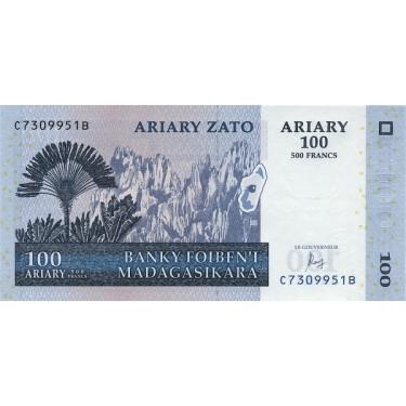 Madagascar 100 Ariary 2004...