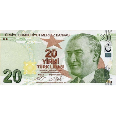 Turkey 20 Lira 2009 P-224c