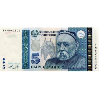 Tadzjikistan 5 Somoni 1999...