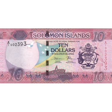 Salomonöarna 10 Dollars...