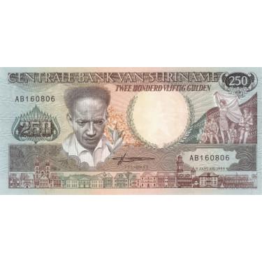 Suriname 250 Gulden 1988 P-134