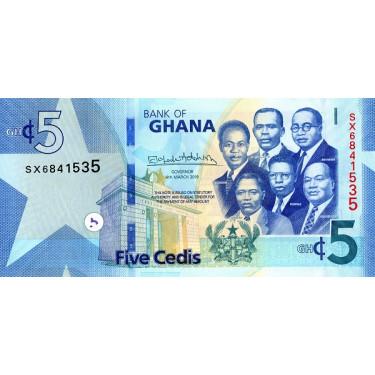 Ghana 5 Cedis 2019 P-46