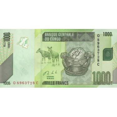 Congo 1000 Francs 2013 P-101b