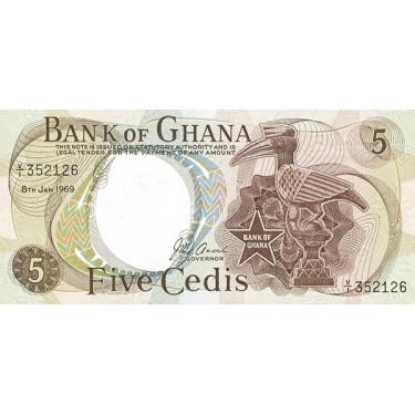 Ghana 5 Cedis 1969 P-11b