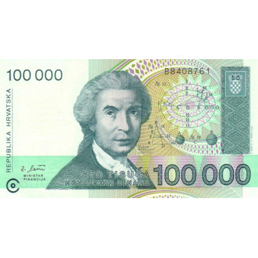 Kroatien 100 000 Dinara...