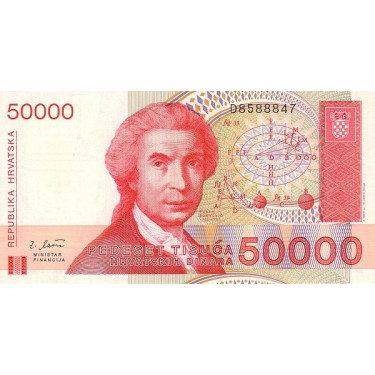 Kroatien 50 000 Dinara 1993...