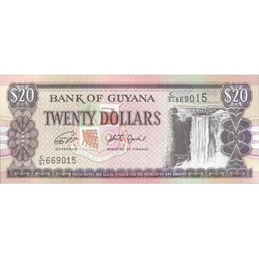Guyana 20 Dollars 2018 P-30g