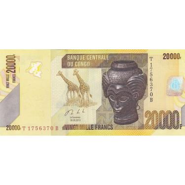 Congo 20 000 Francs 2013...