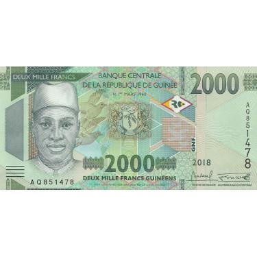 Guinea 2000 Francs 2018 P-new