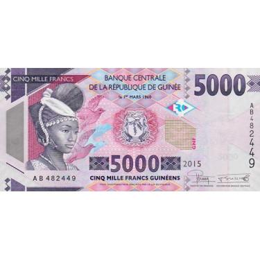 Guinea 5000 Francs 2015 P-49