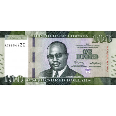 Liberia 100 Dollars 2017 P-35b