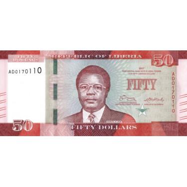 Liberia 50 Dollars 2017 P-34b