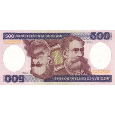 Brazil 500 Cruzeiros 1985...