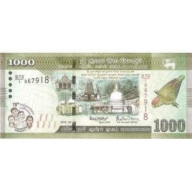 Sri Lanka 1000 Rupees 2018...