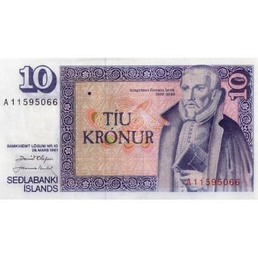 Iceland 10 Kronur 1981...