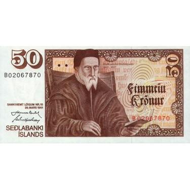 Iceland 50 Kronur 1981...