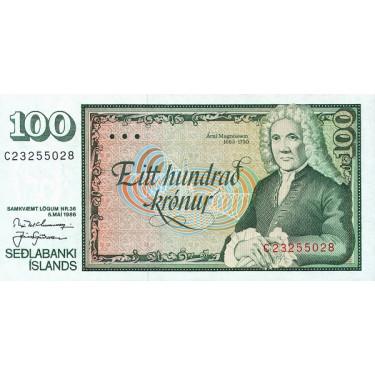 Iceland 100 Kronur 1994...