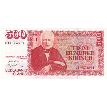 Iceland 500 Kronur 1993...