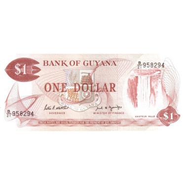 Guyana 1 Dollar P-21f ND...