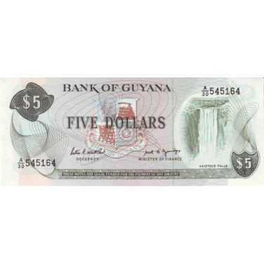Guyana 5 Dollars P-22e ND...