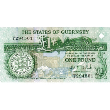 Guernsey 1 Pound P-52c ND...