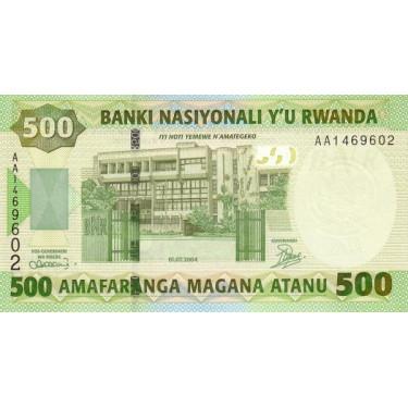 Rwanda 500 Francs 2004 P-30