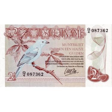 Surinam 2 1/2 Gulden 1985...