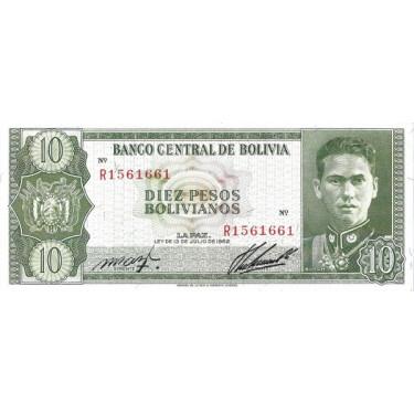 Bolivia 10 Pesos 1962 P-154
