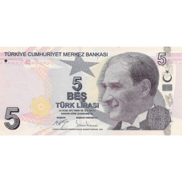 Turkey 5 Lira 2009 (2017)...