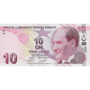 Turkey 10 Lira 2009 (2017)...