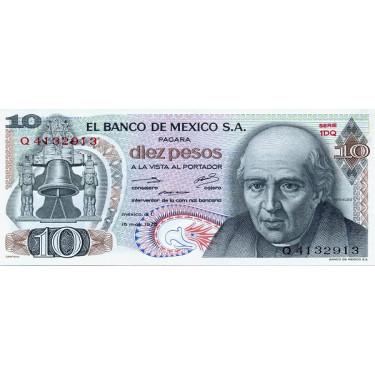 Mexico 10 Pesos 1975 P-63h