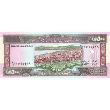 Lebanon 500 Livres 1988 P-68