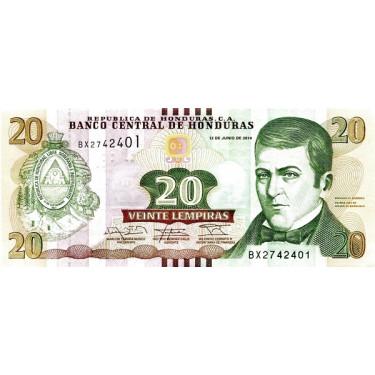 Honduras 20 Lempiras 2014...