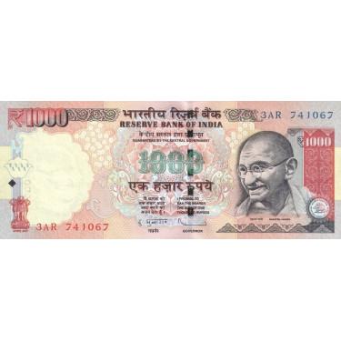 India 1000 Rupees 2011 P-107