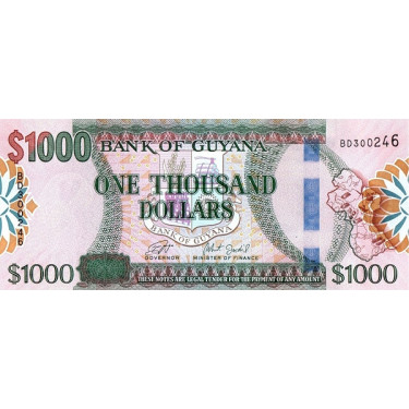 Guyana 1000 Dollars ND 2019...