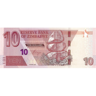 Zimbabwe 10 Dollars 2020 P-new