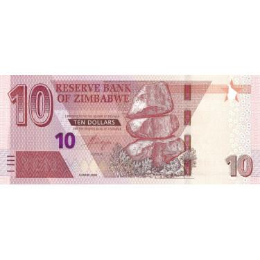 Zimbabwe 10 Dollars 2020 P-new