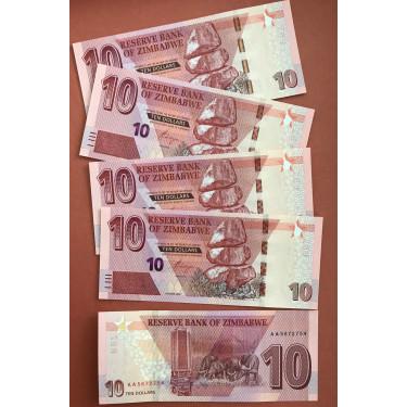 Zimbabwe 10 Dollars 2020...