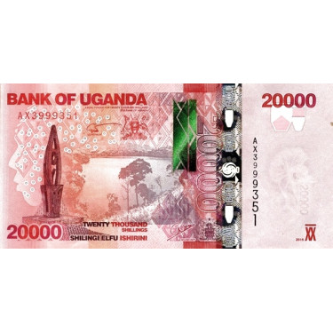Uganda 20000 Shillings 2015...