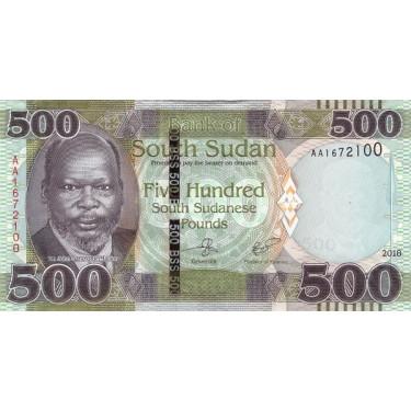 South Sudan 500 Pounds 2018...