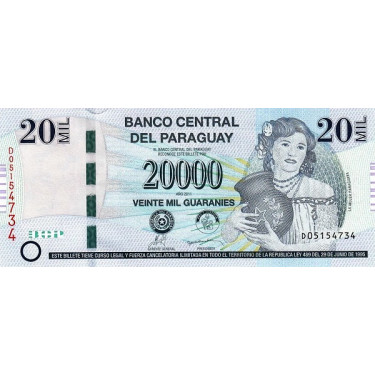 Paraguay 20 000 Guaranies...
