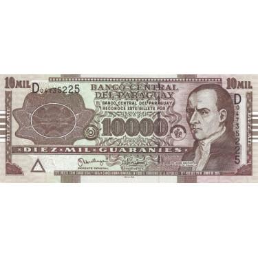 Paraguay 10 000 Guaranies...