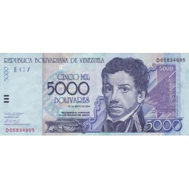 Venezuela 5000 Bolivares...