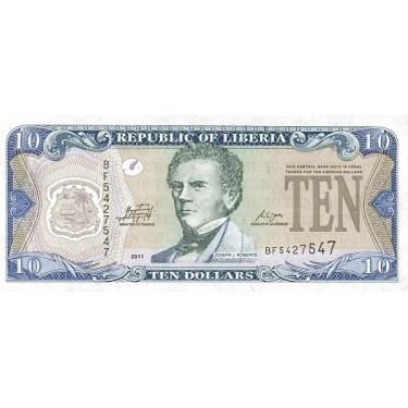Liberia 10 Dollars 2011 P-27f
