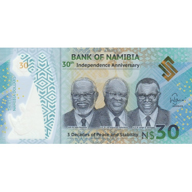 Namibia 30 Dollars 2020 P-new
