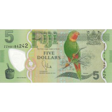 Fiji 5 Dollars 2012-2013...