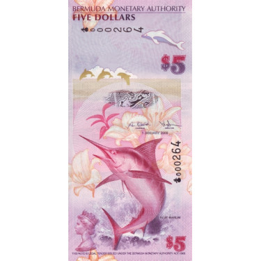 Bermuda 5 Dollars 2009 P-58