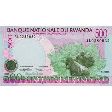 Rwanda 500 Francs 1998 P-26b