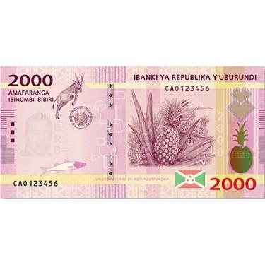 Burundi 2000 Francs 2015 P-52